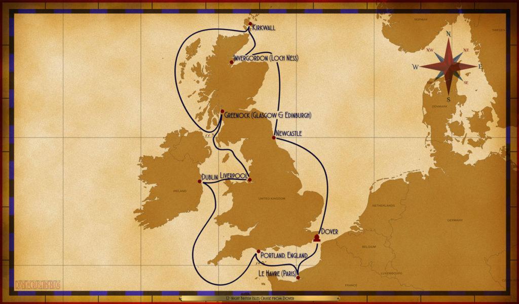 Map Magic 12 Night British Isles Itinerary 2017 Rev1