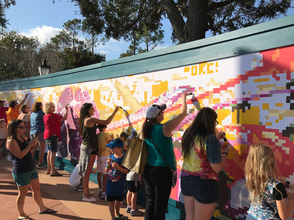 Epcot Festival Paint By Numbers Mural