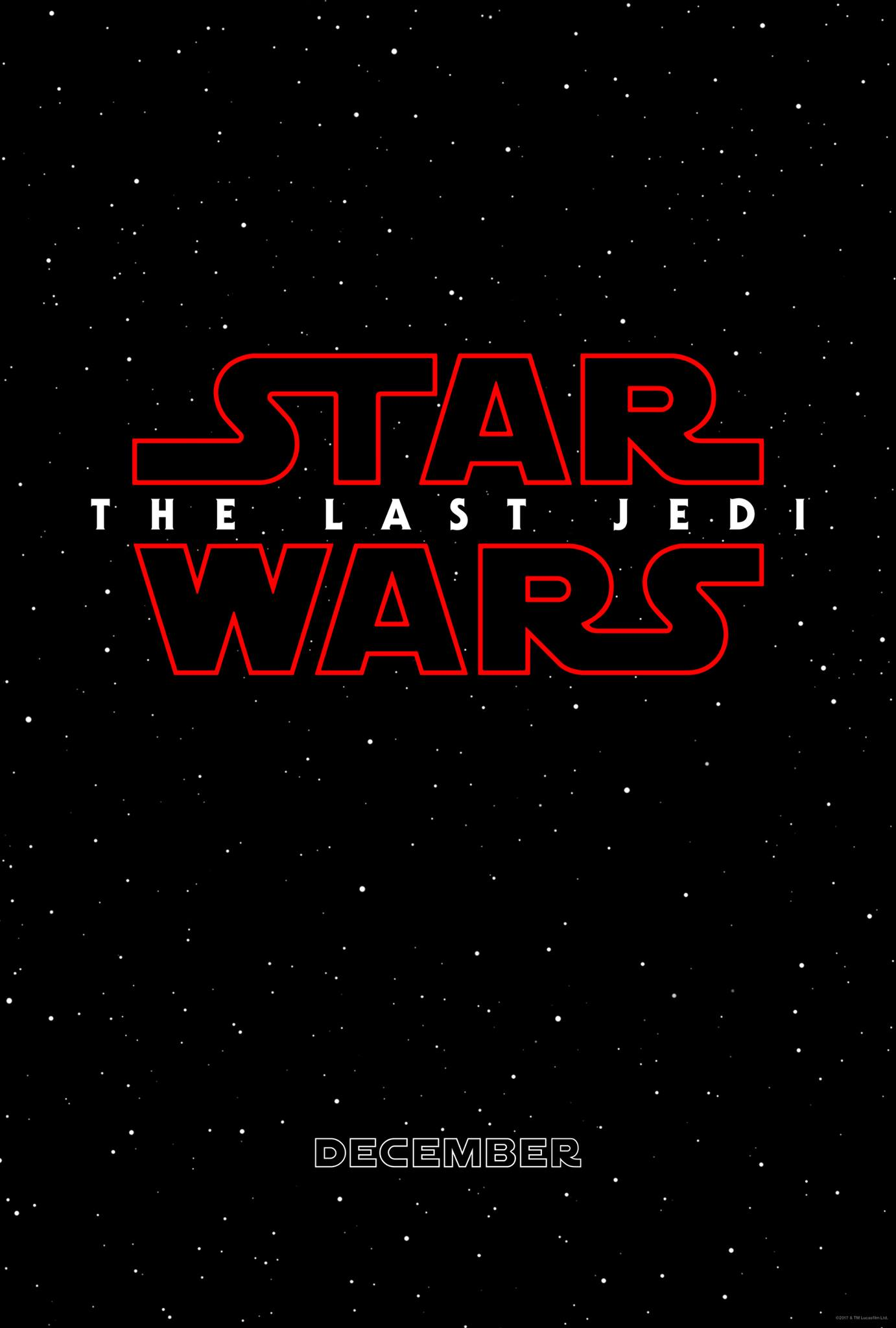 Star Wars Episode VIII The Last Jedi Movie Poster Teaser