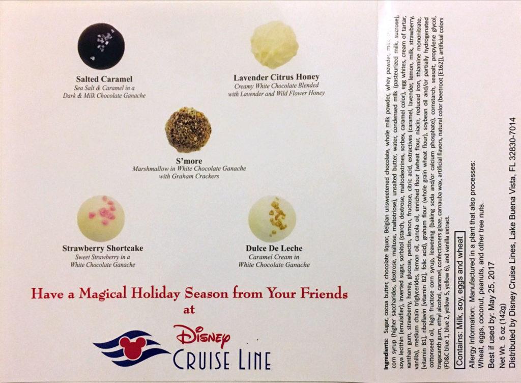 Wonder Happy Holidays Chocolate Descriptions