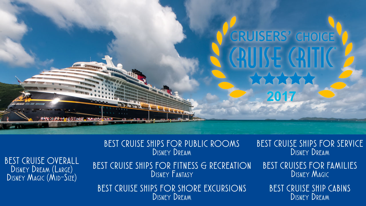 Disney Dream U0026 Magic Named Best Overall Cruise Ships In Cruise Criticu0027s  2017 Cruisersu0027 Choice Awards U2022 The Disney Cruise Line Blog