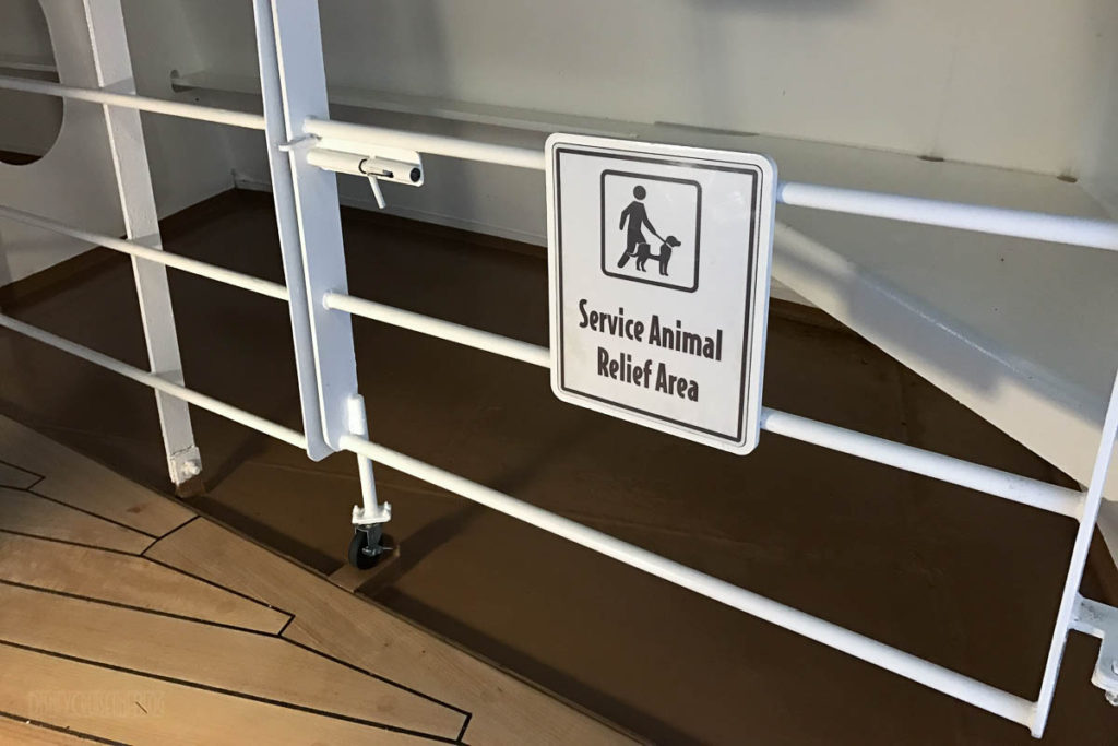 Disney Wonder Service Animal Relief Area