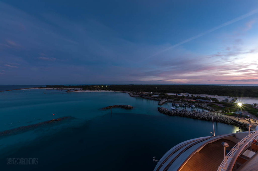 Disney Wonder Stern Castaway Cay At Dawn
