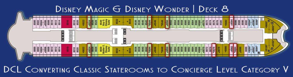 Magic Wonder New Deck 8 Concierge Staterooms 2017