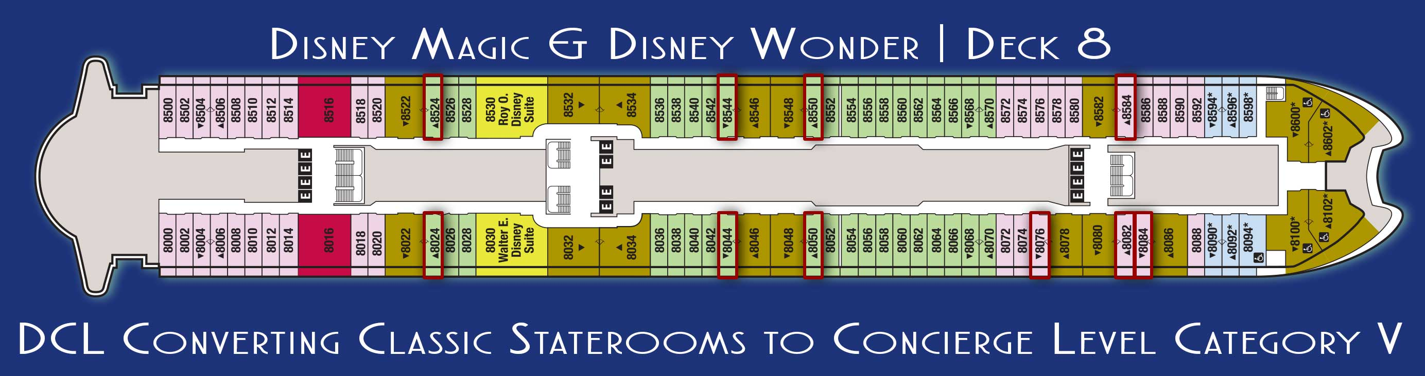 Disney magic and disney wonder staterooms converting to concierge magic wonder new deck 8 concierge staterooms 2017 baanklon Gallery