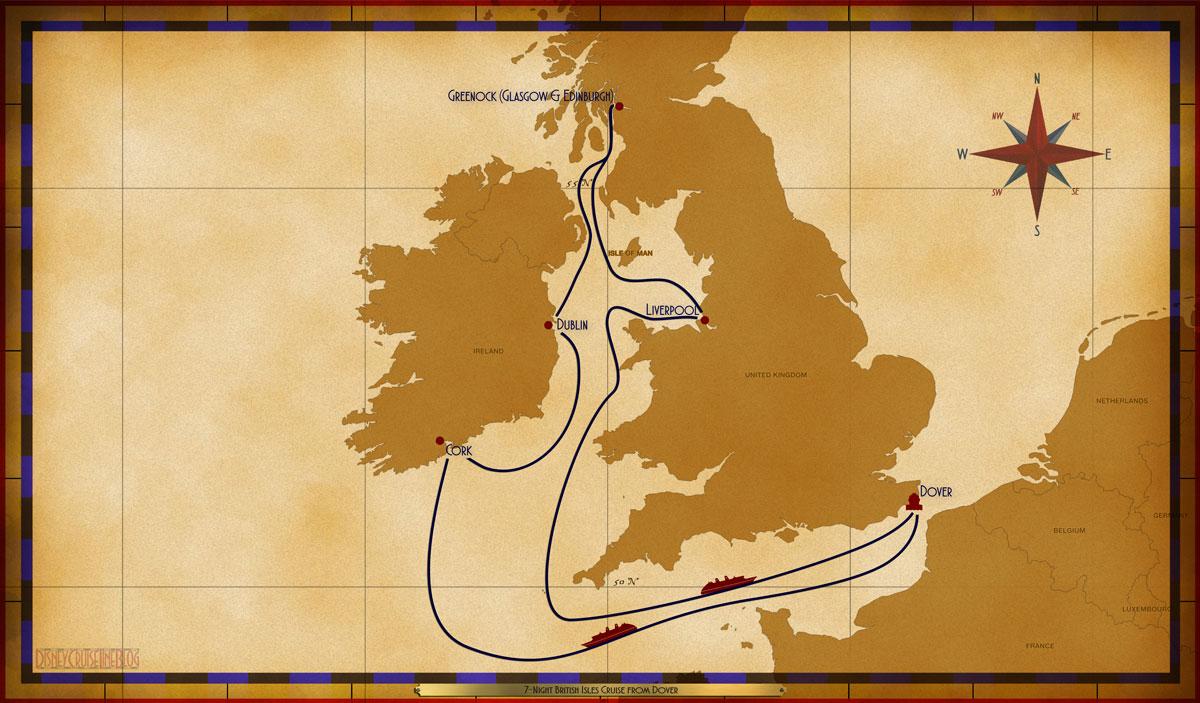 Map Magic 7 Night British Isles Dover