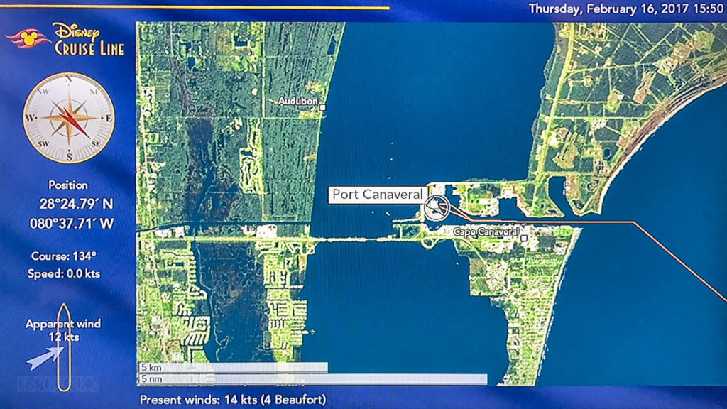 Stateroom TV Map Port Canaveral 20170216