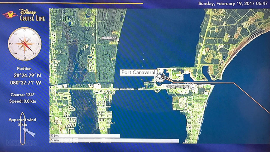 Stateroom TV Map Port Canaveral 20170219