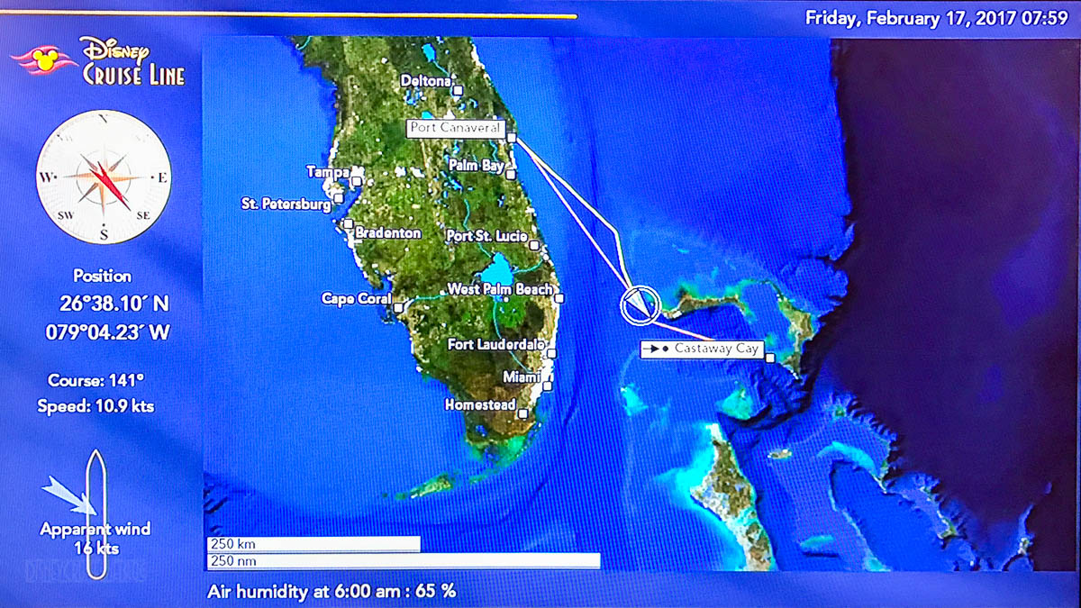 Stateroom TV Map Sea 20170217