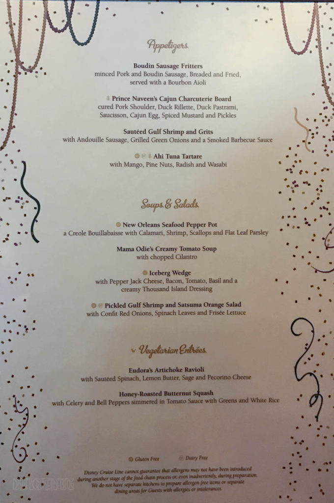 Tiana's Place Menu A February 2017