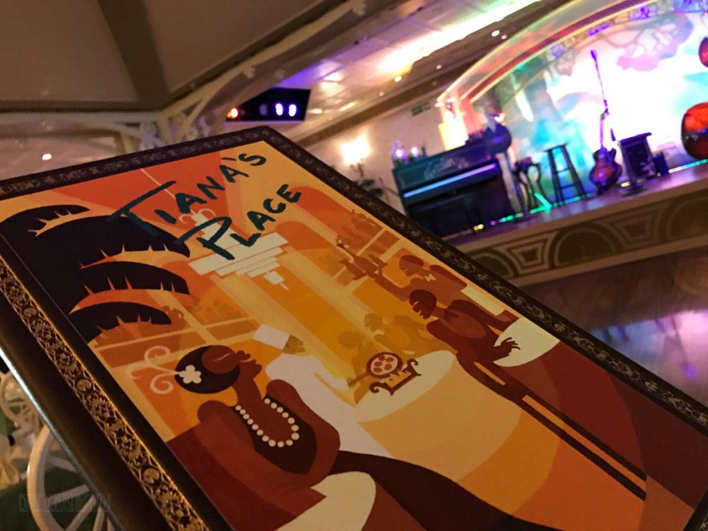 Tiana's Place Menu Stage