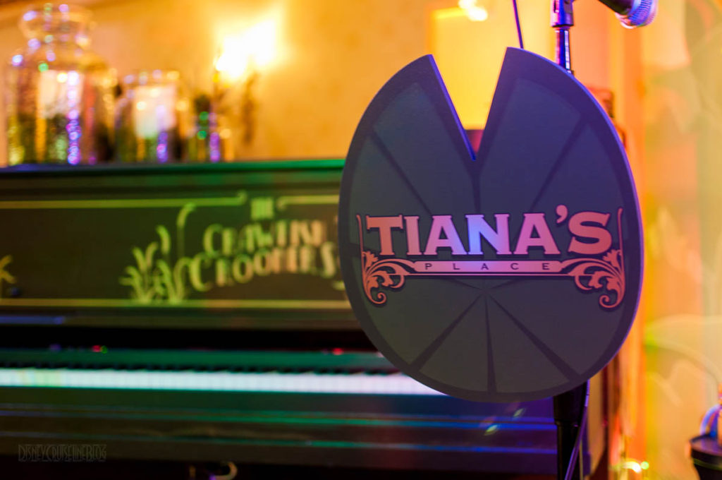 Tiana's Place Microphone Stand Lilypad Sign