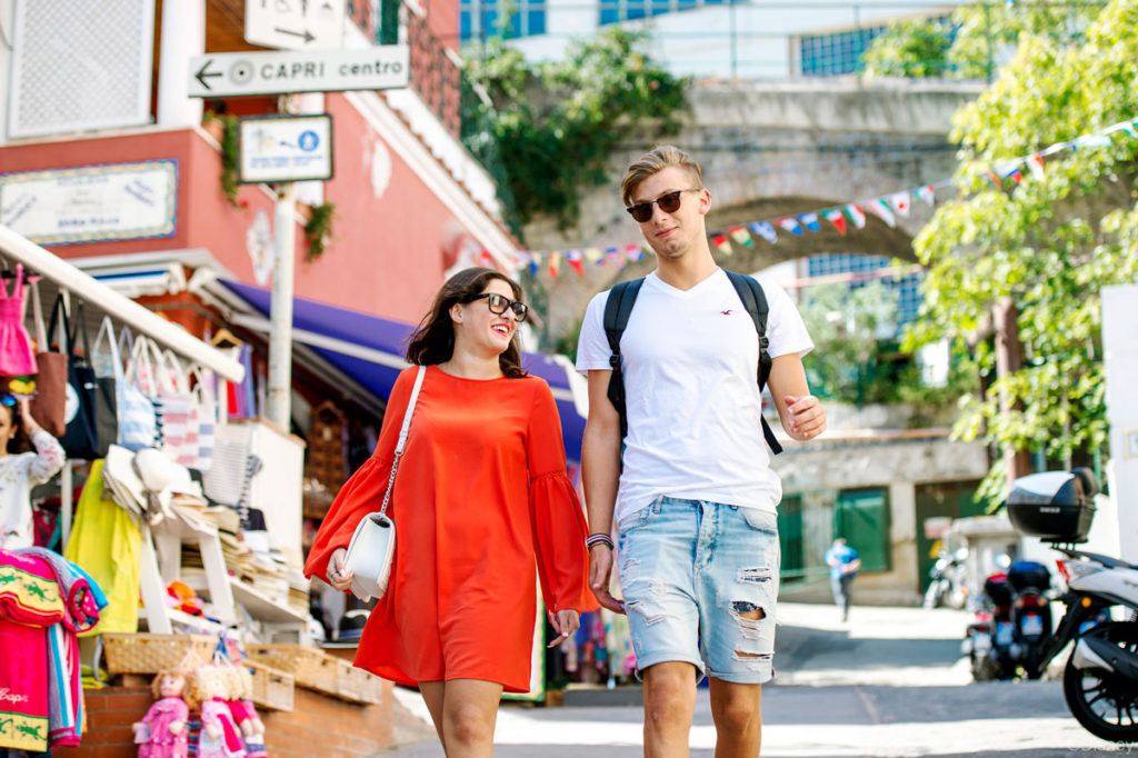DCL Cobblestone Street Market Capri Italy