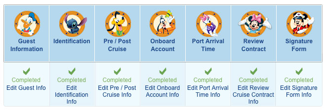 DCL My Online Check In Status