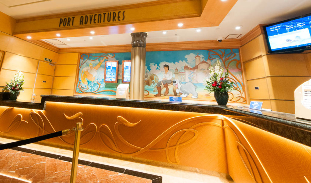 Disney Wonder Re Imagined Atrium Port Adventures