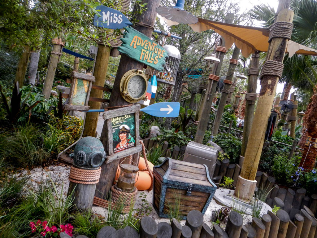 Typhoon Lagoon Miss Adventure Falls Sign