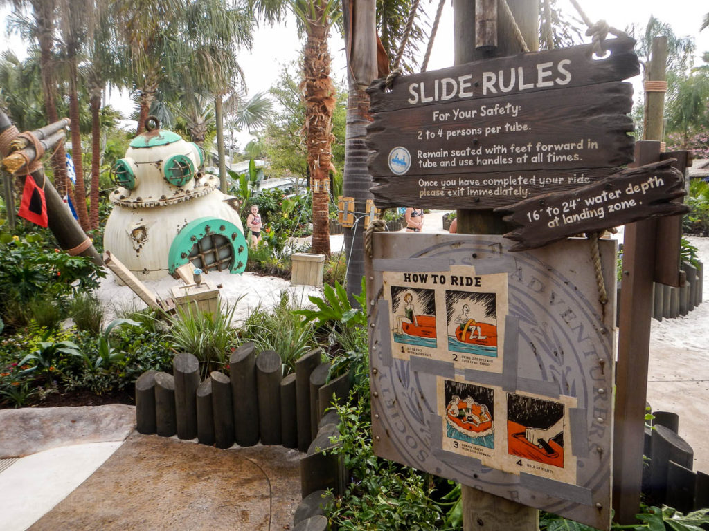Typhoon Lagoon Miss Adventure Falls Slide Rules