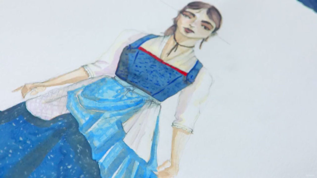 BatB Belle Dress Drawing