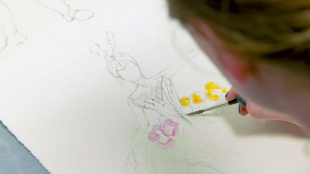 BatB Dress Watercolor Concept