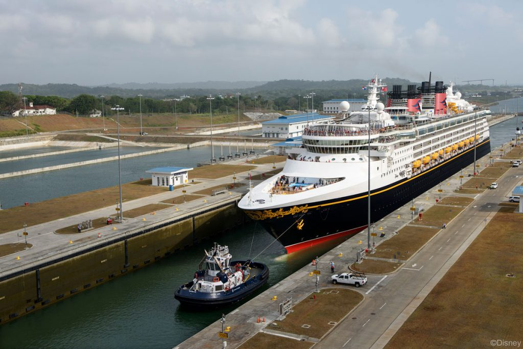 DCL Wonder 20170429 First Passenger Ship Transit Panama Canal