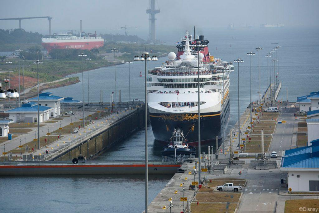 DCL Wonder 20170429 Inaugural Transit New Panama Canal Locks