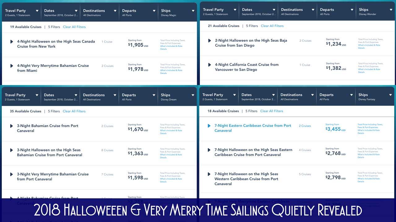 2018 Hallween MerryTime Sailing Dates
