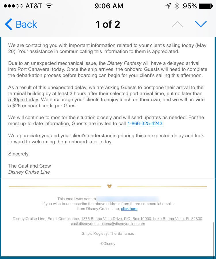 DCL 20170520 Fantasy Delay Embark Email