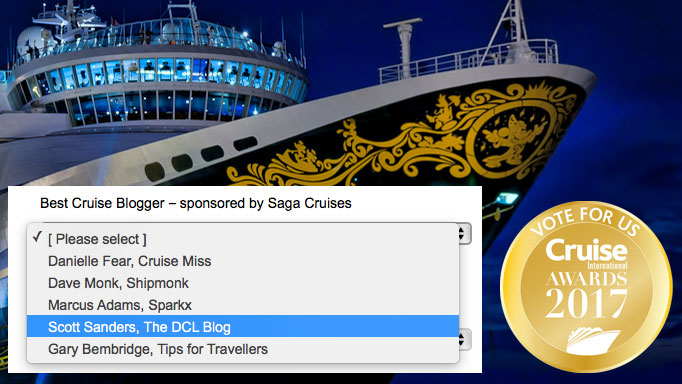 DCLBlog Cruise International Awards Best Cruise Blogger Nominees 2017