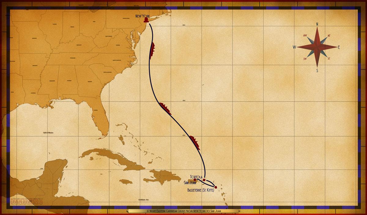 Map Magic 6 Night Eastern Caribbean Repo NYC SJU