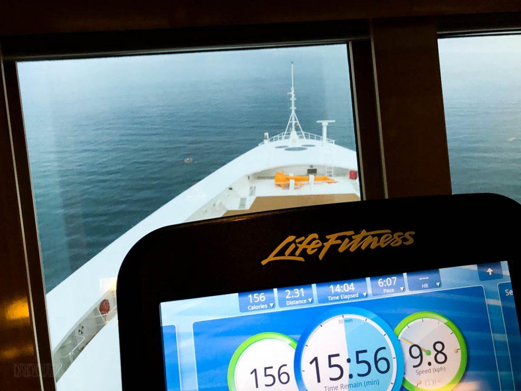 Disney Wonder Gym View At Sea