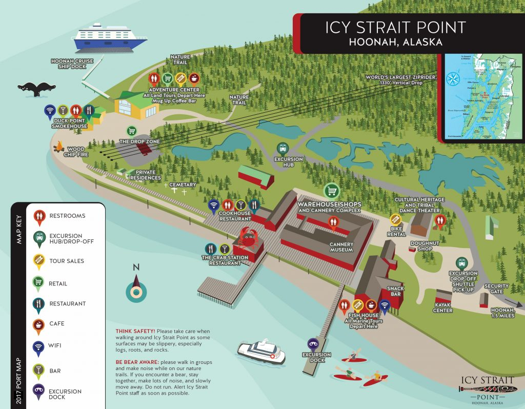 Icy Strait Point Port Map 2017