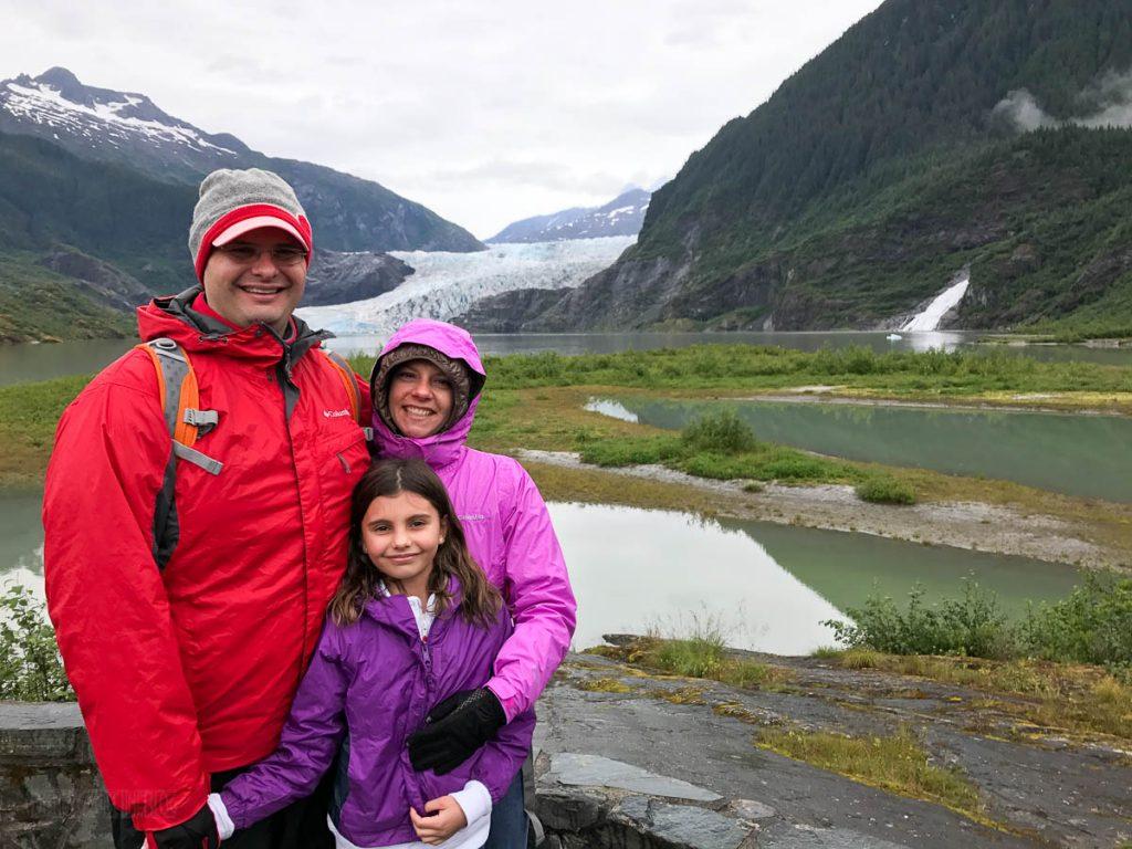Mendenhall Glacier Family Photo