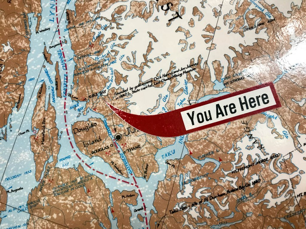 Mendenhall Glacier You Are Here Map