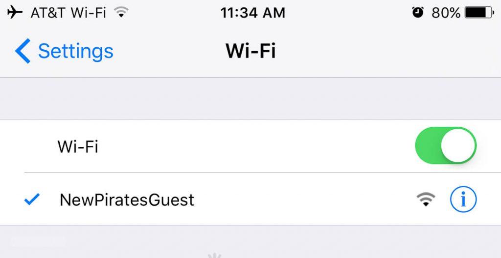 Pirates Bight Free WiFi