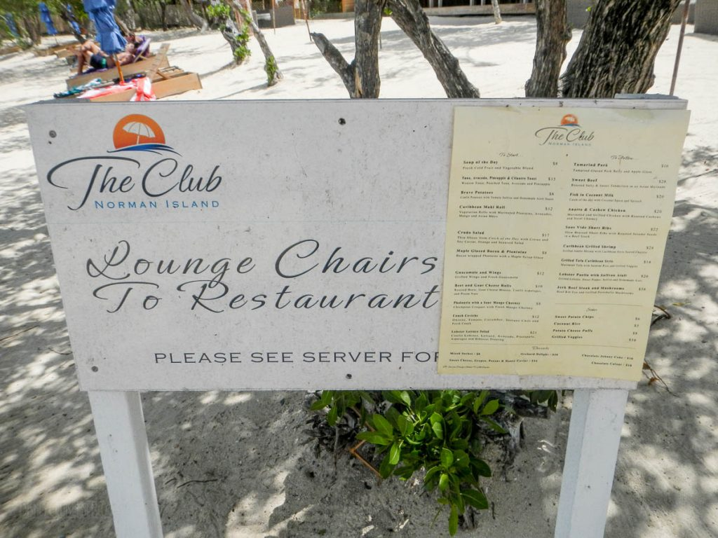 The Club Norman Island Lounge Chair Sign
