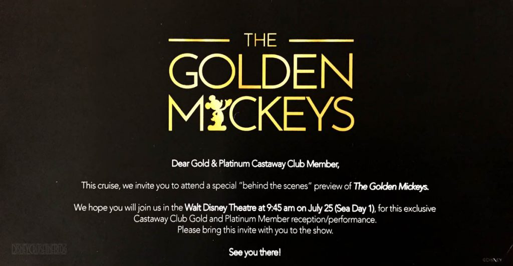 The Golden Mickeys Castaway Club Special Event