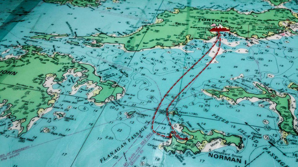 Tortola Norman Island St John Nautical Chart Itinerary