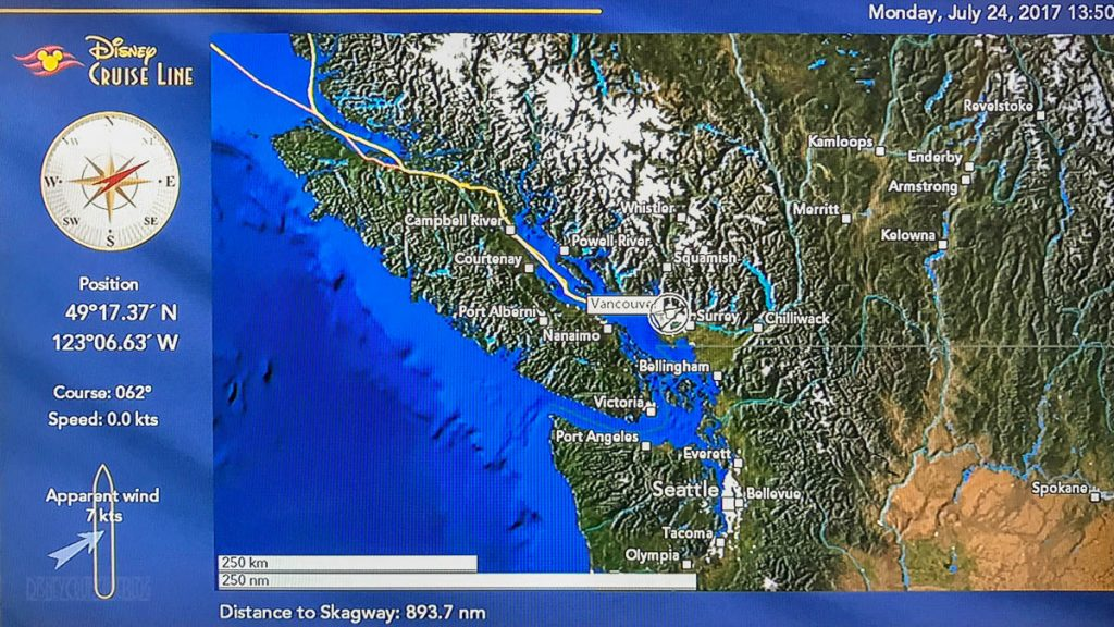 Wonder Stateroom Map Day 1 Vancouver 20170724