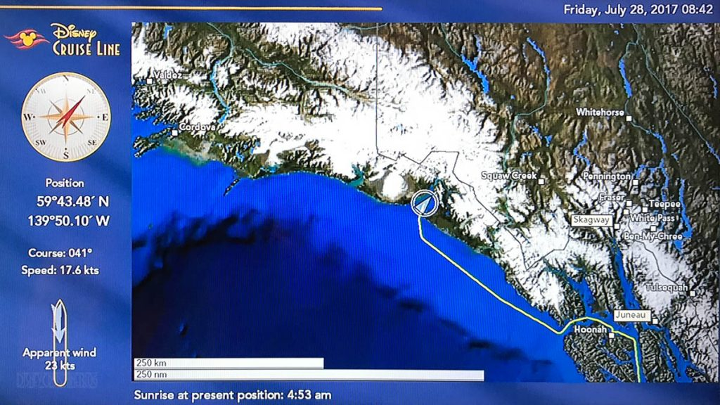 Wonder Stateroom Map Day 5 Hubbard Glacier 20170728
