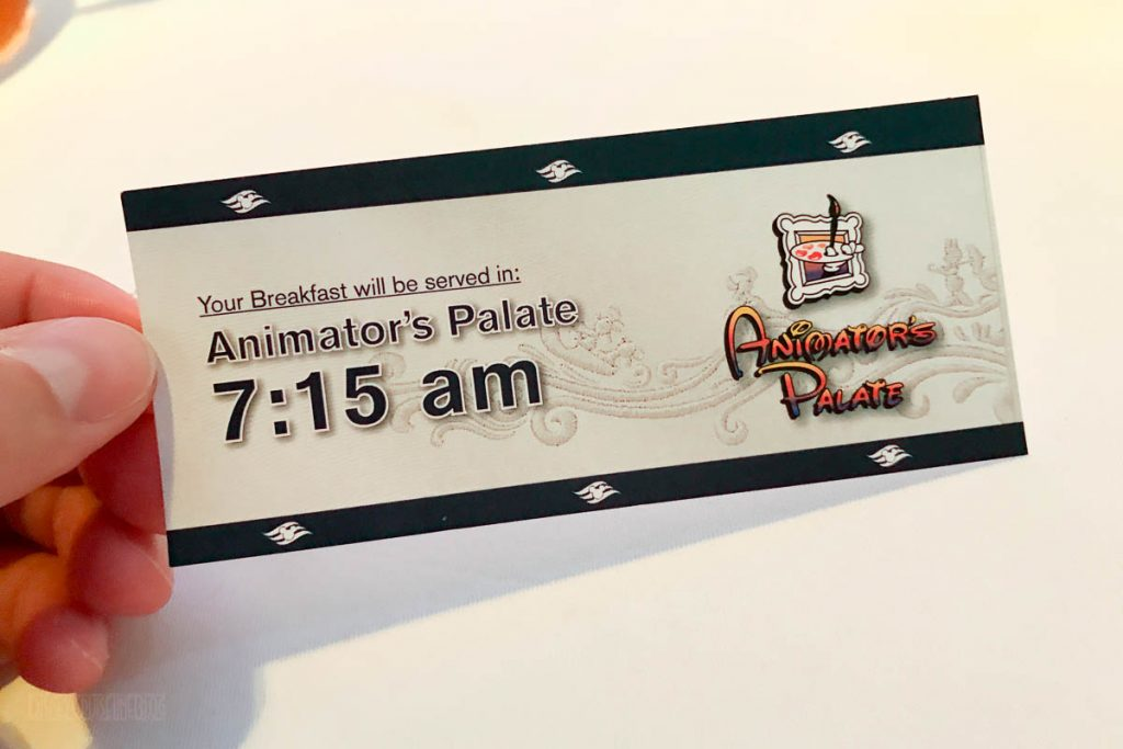 Animator's Palate Breakfast Seating Time Ticket