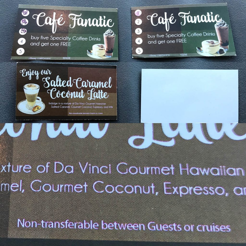 Cove Cafe Fanatic Card Non Transferable Notice