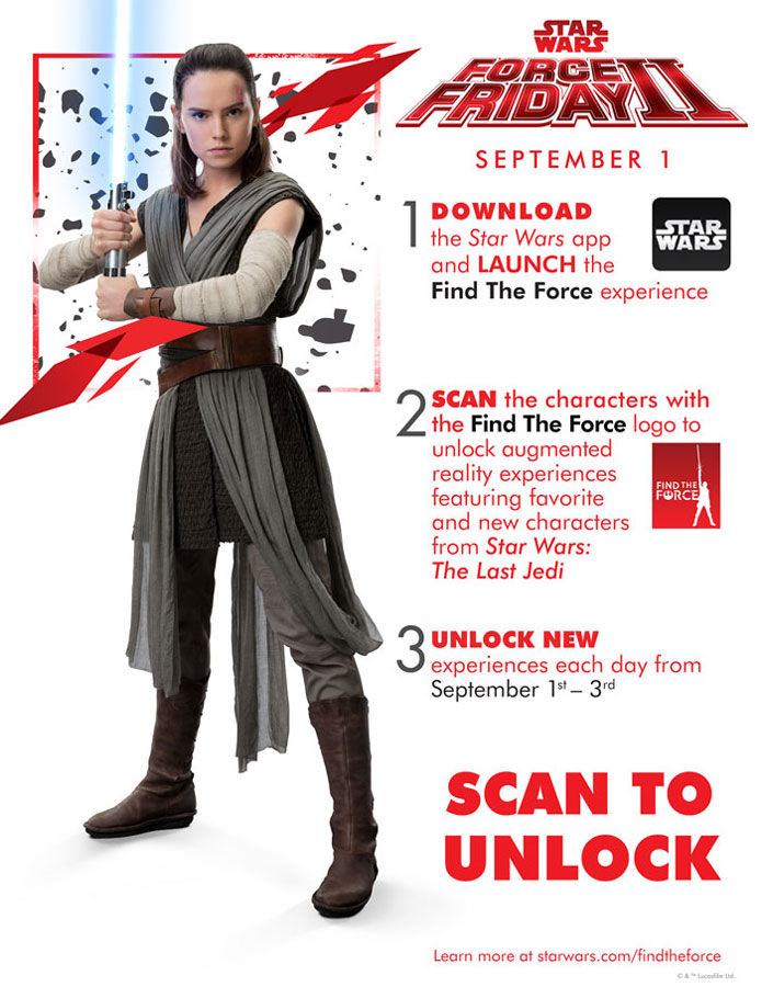 DCL Star Wars Force Friday II AR Guide 2017