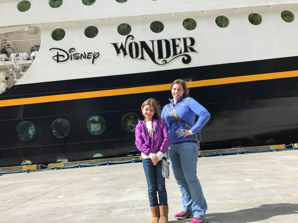 Disney Wonder Isabelle Emily Skagway