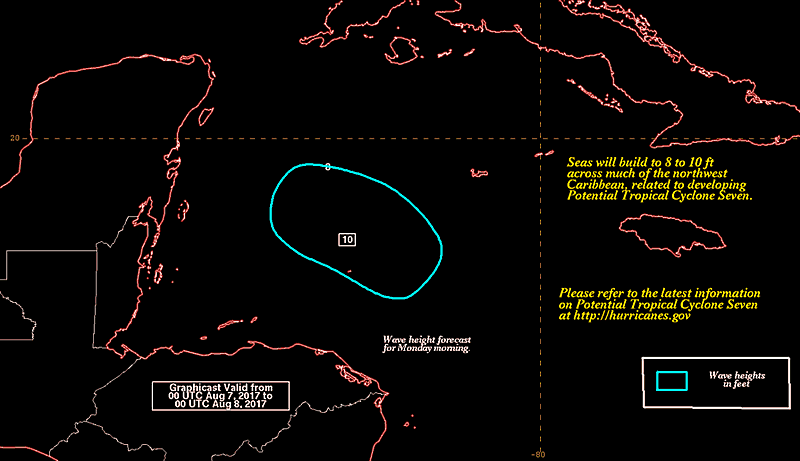 Potential Tropical Cyclone 7 Marine Outlook 20170806