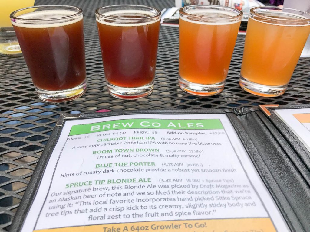 Skagway Brewing Company Beer Flight