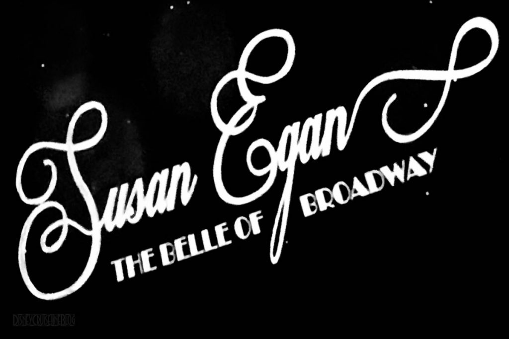 Susan Egan The Belle Of Broadway Show Logo