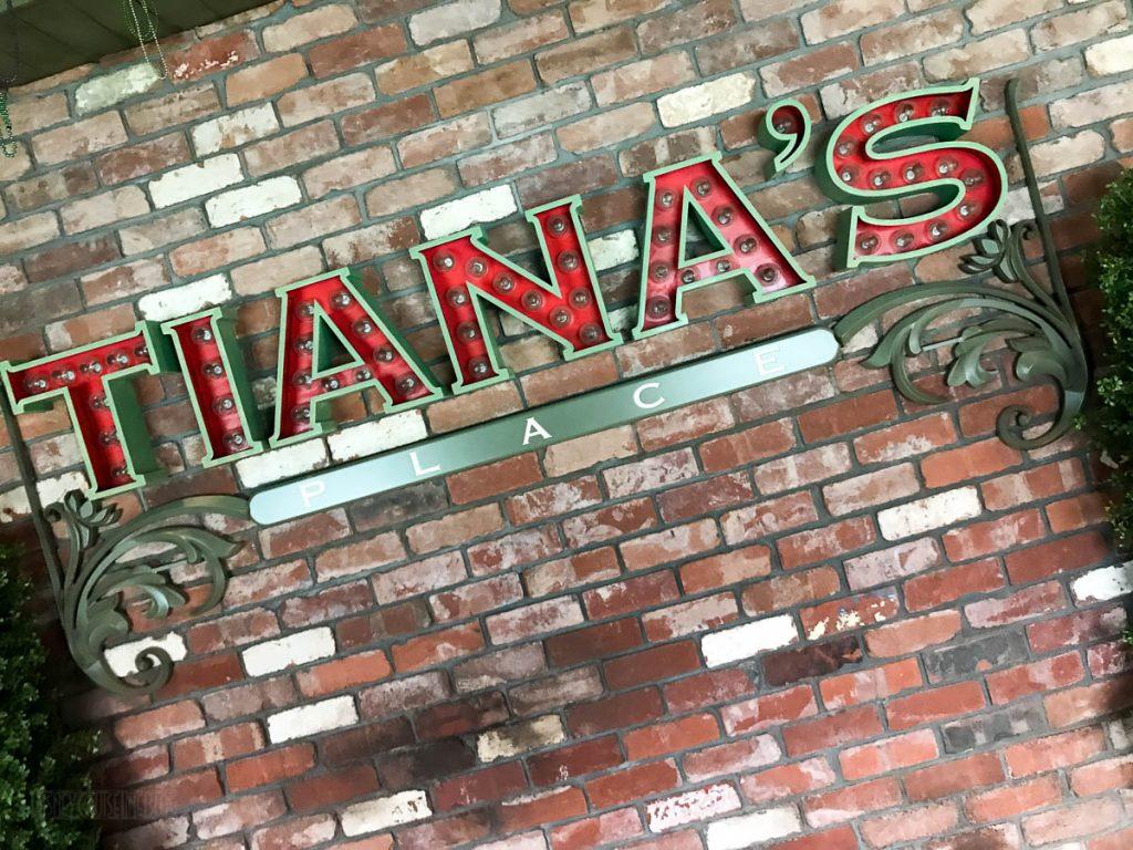 Tiana's Place Sign
