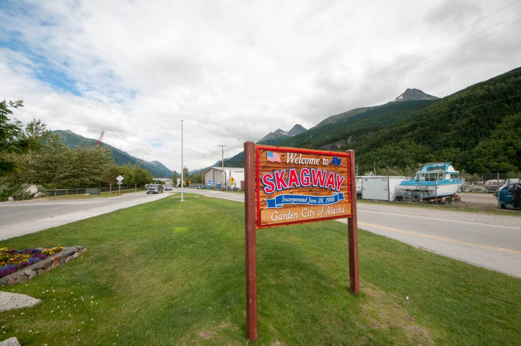Welcome To Skagway Sign
