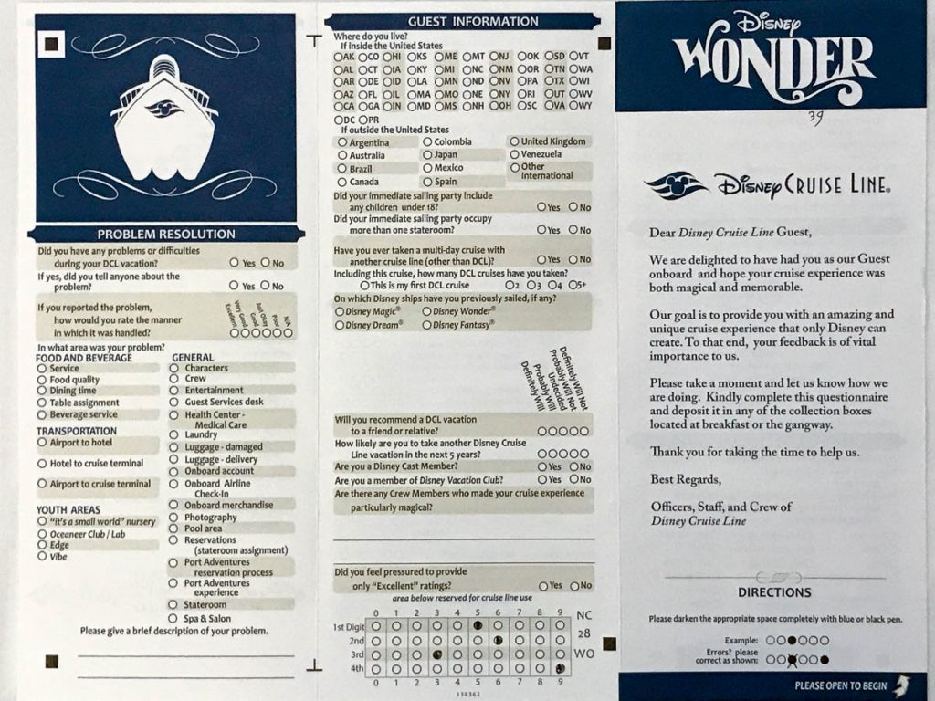 Wonder Guest Questionnaire August 2017 Front