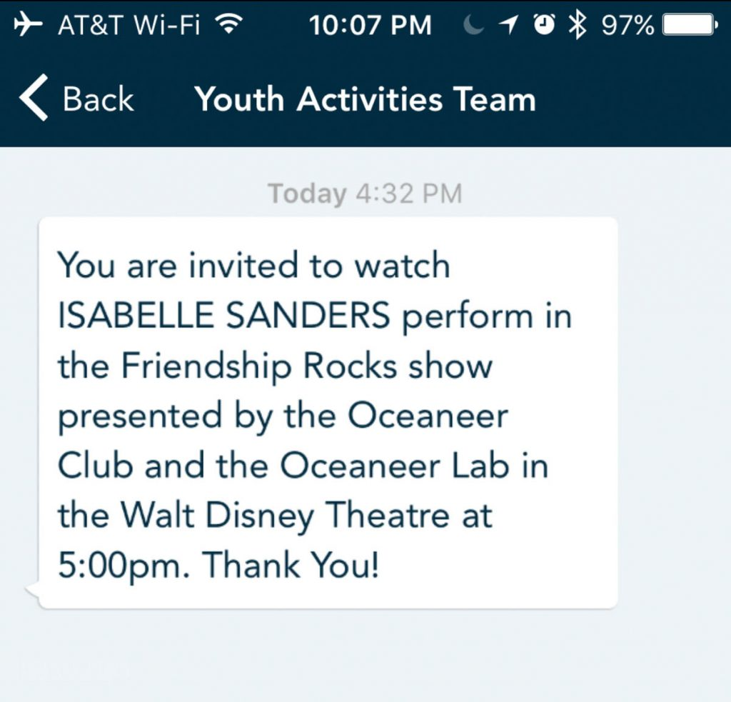 Wonder Navigator App Youth Activities Chat